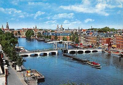 Netherlands Amsterdam Holland Meagre Bridge across the Amstel Magere Burg