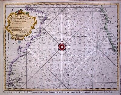 1748  Large Bellin Map of South Atlantic, S. America, Africa