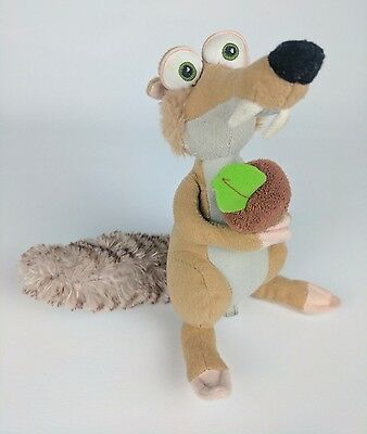 ICE AGE SCRAT 7'' (18cm) Sabre Tooth Squirrel with Nut Plush Toy Soft Toy