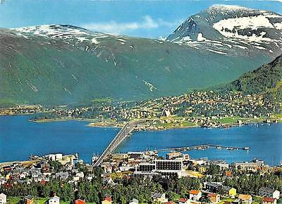 Norway View of the town Towards Mount Tromsdalsting Bridge Panorama