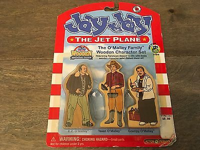 JAY JAY The Jet Plane The O'Malley Family Wooden Character Set (Original Pack)