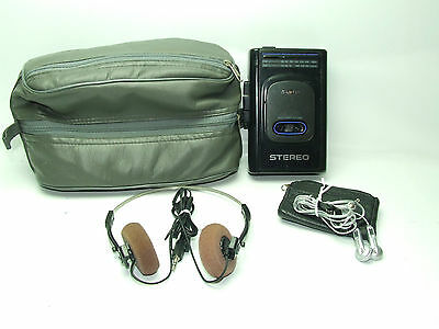 Sanyo Personal Radio Cassette Player Walkman MGR72 With Carry Case & Headphones
