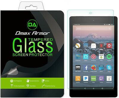 2X Tempered Glass Screen Protector for Amazon Fire HD 8 Tablet (2017 / 2018)