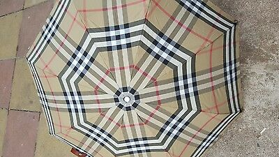 Authentic - Burberry Check Umbrella - Folding Handbag Style