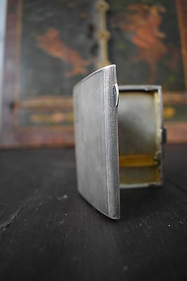 Antique Silver sterling cigarette case 1932. 90 grams