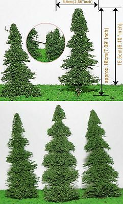 LOT of 5 (five)Spruce Trees 18cm/ 7'' high bring your Countryside to LIFE