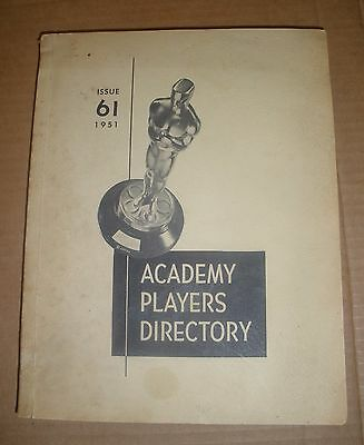 Academy Players Directory AMPAS Issue 61 1951