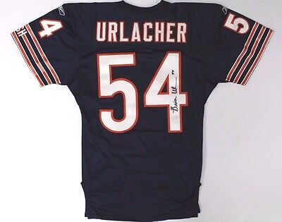 Brian Urlacher Chicago Bears Autographed/Signed Game Used Home Jersey PSA LOA