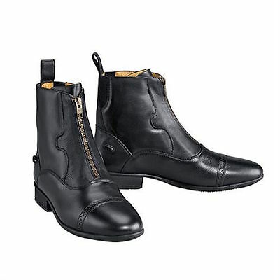 NEW Ladies Ovation Finesse Concours Front Zip Paddock Boots - Black EUR 36,37,39
