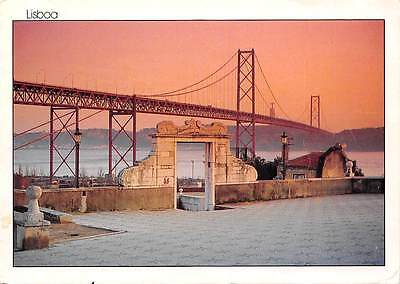 Portugal Lisbon: The bridge over the Tagus and the Statue of Christ the King