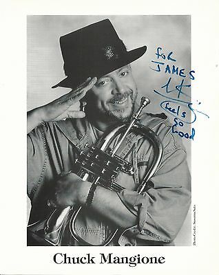 CHUCK MANGIONE Hand Signed 8x10 Autographed Photo With COA - FLUGELHORN PLAYER