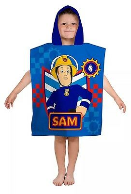New Children's Kids Swimming Poncho Holiday Beach Towel Fireman Sam
