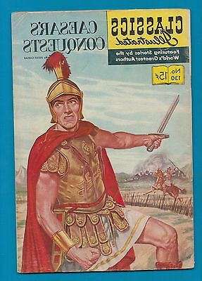 Classics Illustrated Comic 1956 Caesar's Conquests # 130  nice historical #835