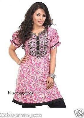 Indian Bollywood Kurta Kurti Designer Women Ethnic Crepe Top Tunic Pakistani New
