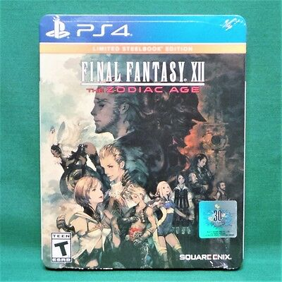 Final Fantasy XII: The Zodiac Age Limited Steelbook Edition PS4 *Factory Sealed*
