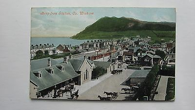Old postcard Bray from Station, Co. Wicklow 1906 Valentines Dublin