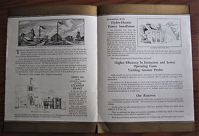 Rare 1920's St Anthony Gold Mines Thunder Bay Ontario Stock Promotion Brochure