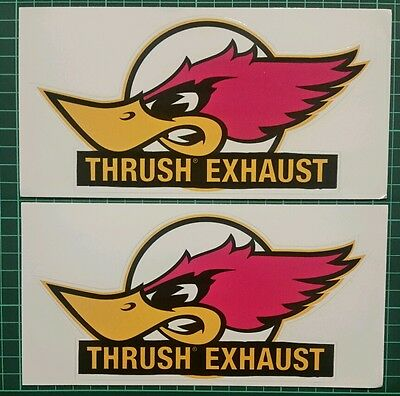 THRUSH racing decals stickers offroad nhra drags diesel hotrod drifting imca