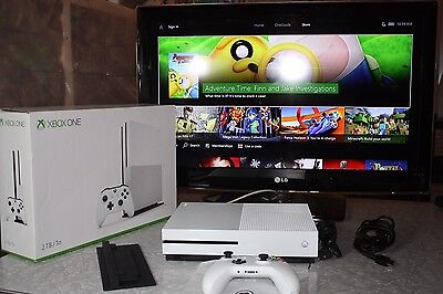 Microsoft Xbox One S Launch Edition 2TB White Console With Stand