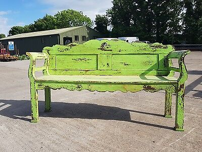 Antique Bench Painted Swedish French Chippy Paint
