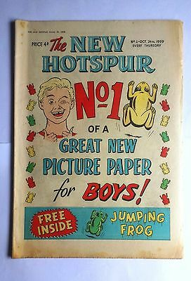 The New Hotspur Comic Number 1 24th October 1959 D C Thomson & Co Ltd Very Good