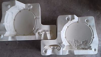 Ceramic Slip Casting Mold Gare 1595  Christmas Drum & Candle