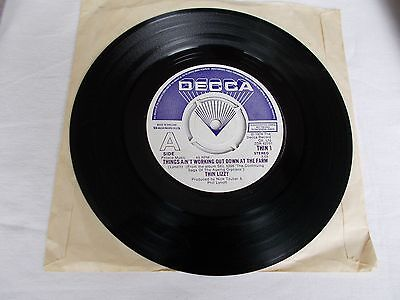 "Thin Lizzy Uk .7"".  Demo.  Things Ain't Working Out Down At The Farm Thin 1.1978"