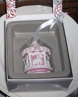 Wedgwood Baby's First Christmas Pink  Carousel Ornament  NIB Dated 2015