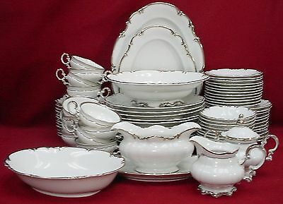 HUTSCHENREUTHER china REVERE white 80-piece SET SETTING for 12 including Serving