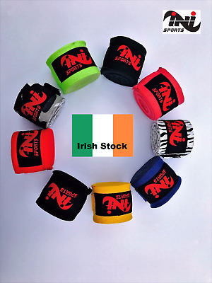 INI Hand Wraps Inner MMA Boxing Bag Gloves Bandages Training Muay Thai Mitts