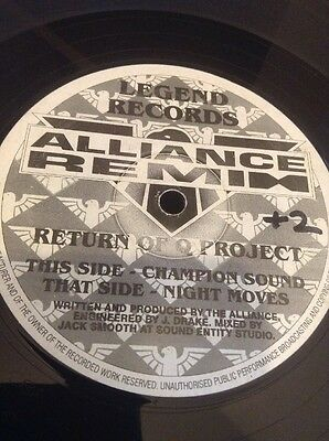 Old Skool Legend Records RETURN OF THE Q PROJECT ALLIANCE REMIX Massive Tune