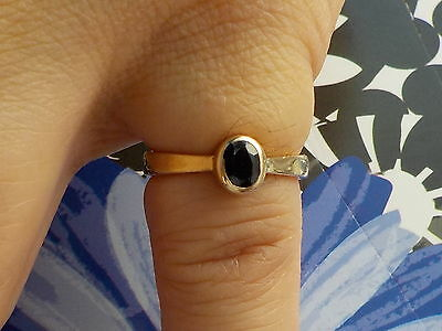9CT Gold And Sapphire Ring Metal Detecting Find