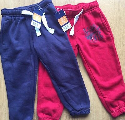 Boys Joggers Two Pairs Size 12-24 Months Bnwt