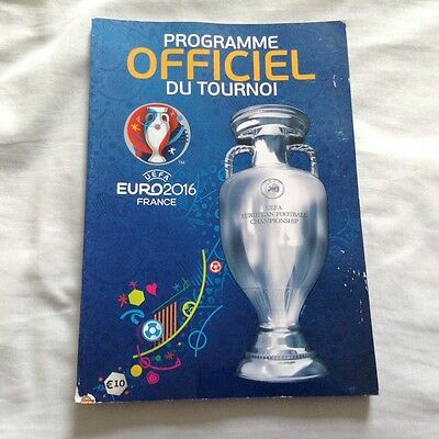 EURO 2016 FRANCE - OFFICIAL PROGRAMME (French Language)(Wales,England,Portugal)