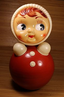 "VINTAGE GIANT GIRL 16"" ROLY-POLY 1970's USSR SOVIET ERA"