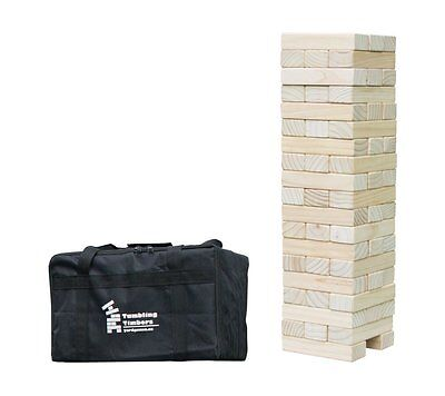 Giant Tumbling Timbers Outdoor Yard Games Wooden 5 ft++ Jenga Tower Party Game