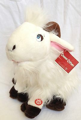 Croonin' Critters Plush Singing Animated Goat with Tag needs TLC