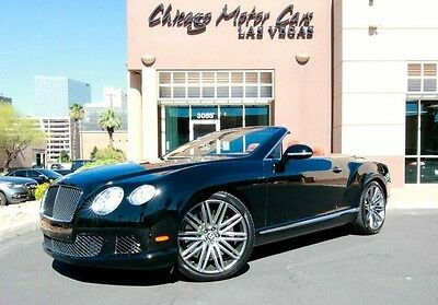 2014 Bentley Continental GT GTC Speed Convertible 2-Door 2014 Bentley GTC Speed Convert Beluga over Saddle Massaging Front Seats LOADED!