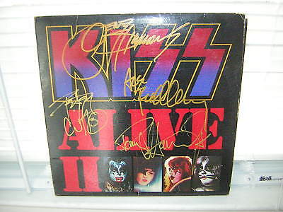 Kiss Signed Lp Alive 2 X4 Ace Frehley Peter Criss 1977