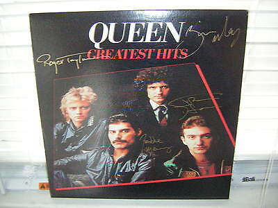 Queen Signed Lp Greatest Hits Freddie Mercury Brian May X4