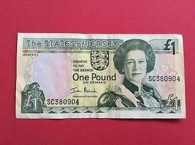 The States Of Jersey One Pound Note Good Condition