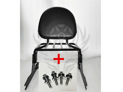 Sissy bar backrest with luggage rack AND docking for HARLEY FXSB 2013-17 16 15