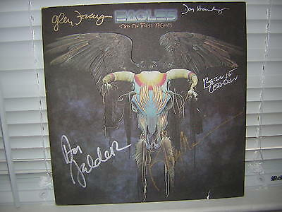 The Eagles Signed Lp One Of These Nights X5 Frey Henley Felder Meisner