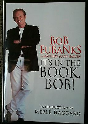 It's In The Book Bob Eubanks Signed Autobiography TV Newlywed Game HCDJ OOP Rare