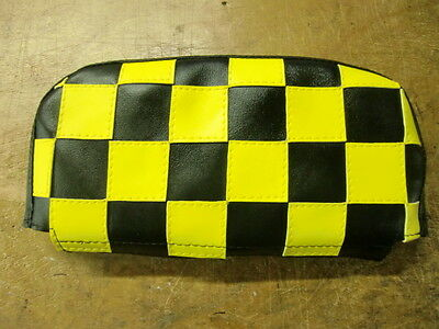 Black/Yellow Check Scooter Back Rest Cover (Purse Style)