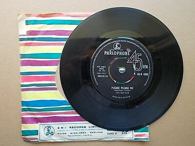 "The Beatles: "" Please Please Me"" b/w ""Ask Me Why"". Parlophone 45-R 4983. 1963."