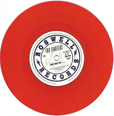 "Foo Fighters I'll Stick Around Red Vinyl 7"" Single limited edition"