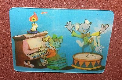 RARE 3D Stereo USSR lenticular small Calendar Mice school music lesson Dancing