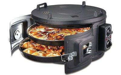 Double Itimat Black Electrical Roaster/grill Round Oven Enamel Trays