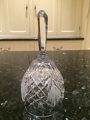 Irish Tyrone Large Crystal Bell Beautiful Frosted Shape & Design